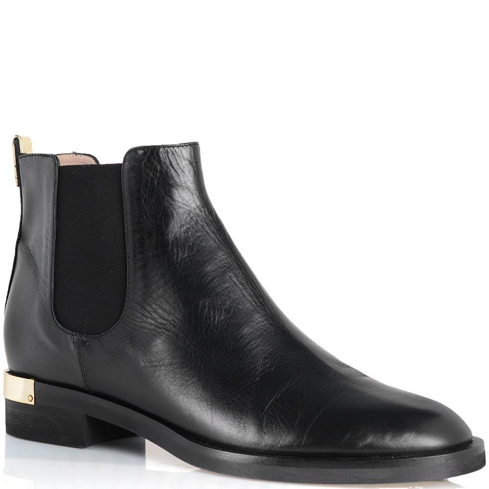 Ботинки Giorgio Fabiani из гладкой черной кожи со вставкой-резинкой