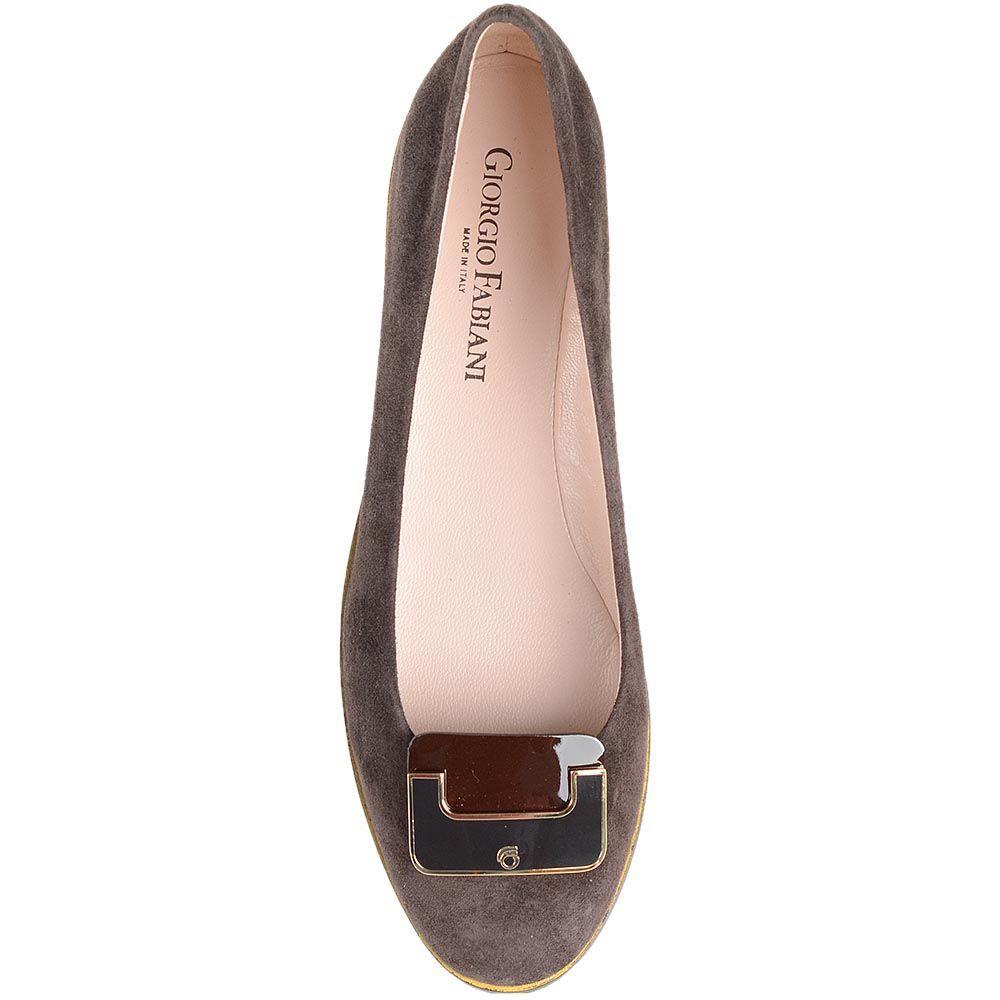 Балетки Giorgio Fabiani коричневого цвета с брендированной пряжкой