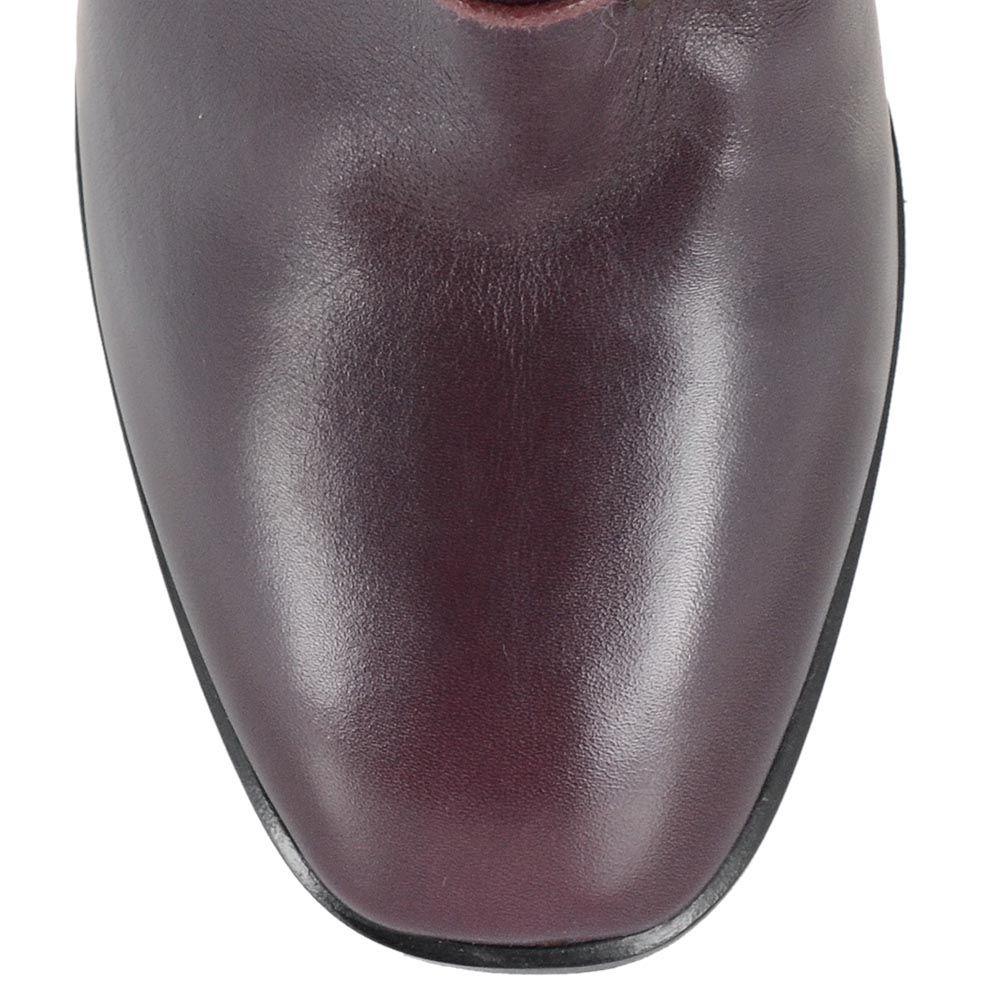 Женские сапоги Giorgio Fabiani из полированной кожи бордового цвета