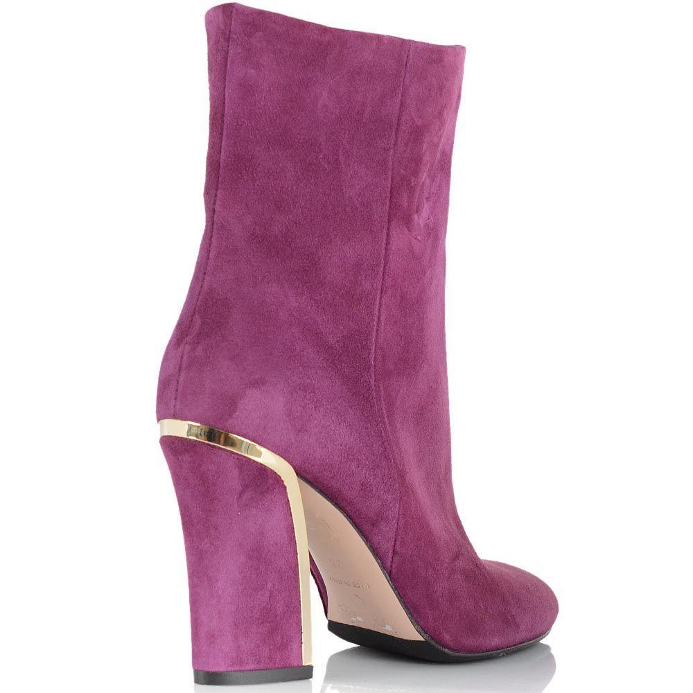 Замшевые ботинки Giorgio Fabiani розового цвета на золотистом каблуке