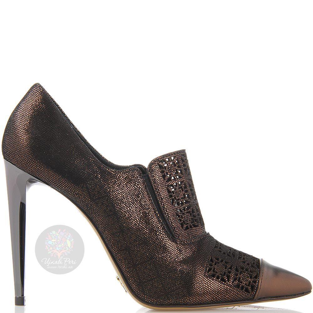 Женские туфли FABI с острым носочком брозового цвета