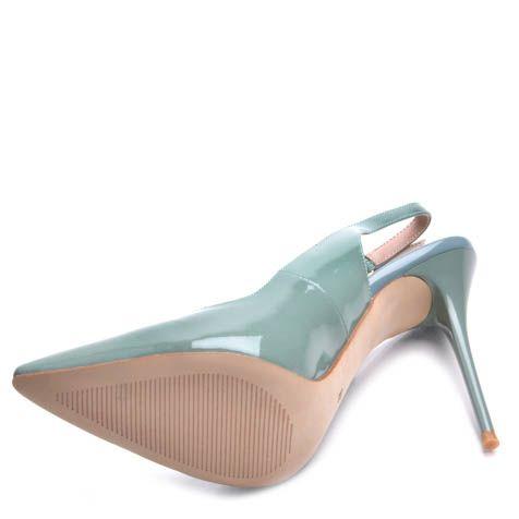 Туфли Prego на шпильке с открытой пяткой