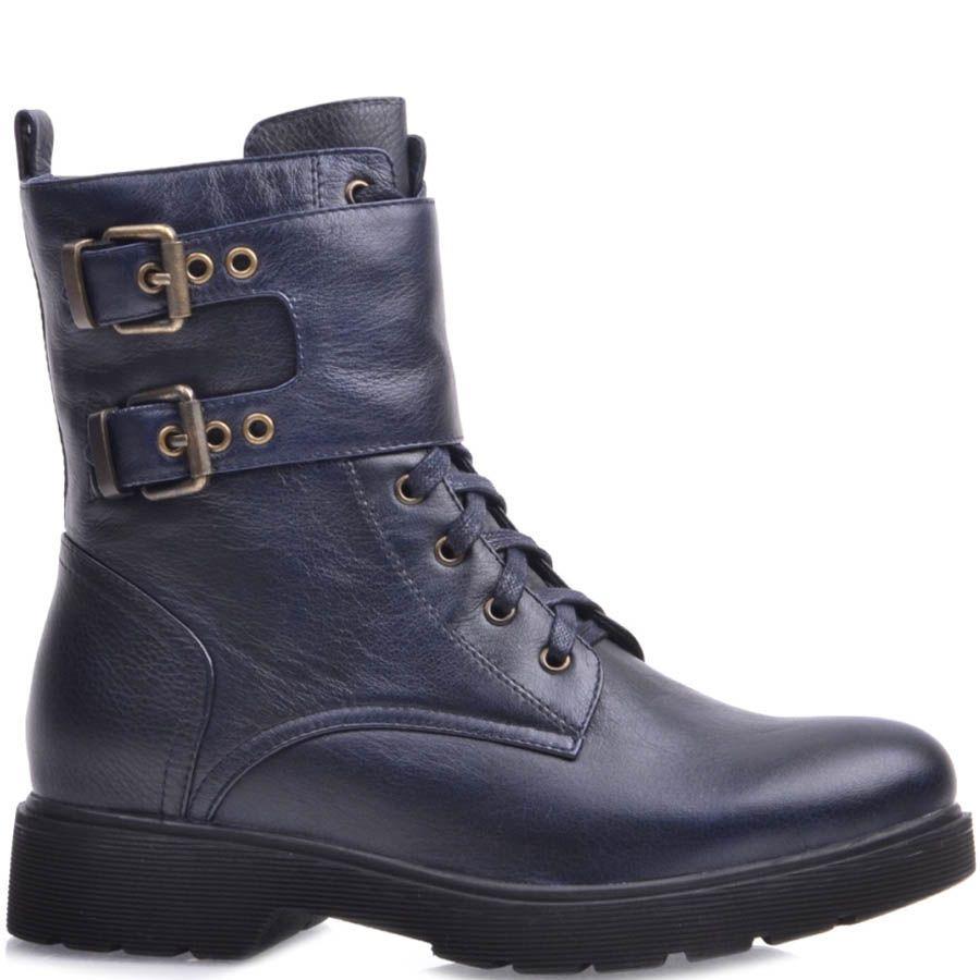 Ботинки Prego синего цвета с двумя пряжками