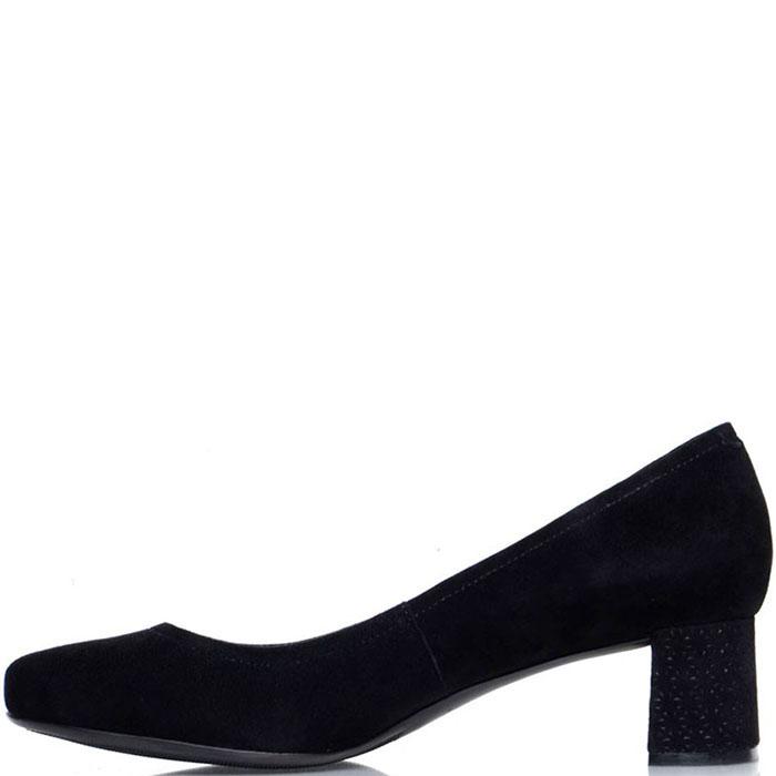 Замшевые туфли Prego на устойчивом каблуке