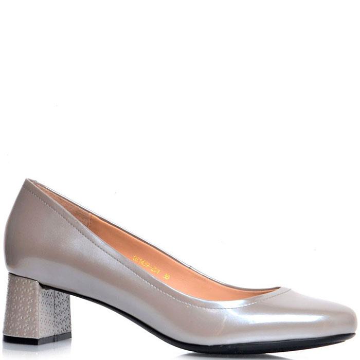 Кожаные туфли Prego бежевого цвета с перламутровым блеском