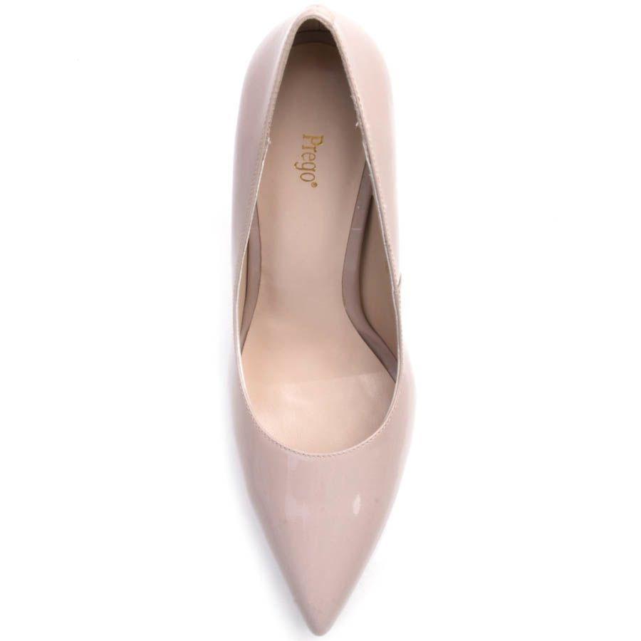 Туфли-лодочки Prego лаковые нежно-розового цвета с узким носком
