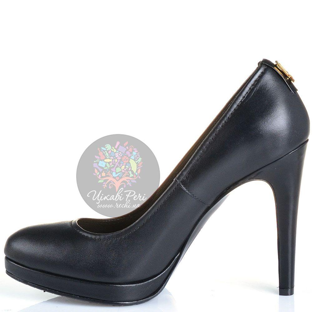 Туфли Galliano на шпильке кожаные черные