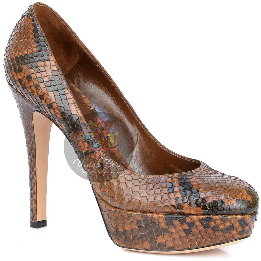 Туфли Gianvito Rossi на шпильке роскошные со змеиным принтом