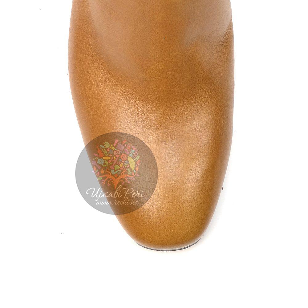 Полусапожки Giorgio Fabiani осенние горчичные кожаные с отворотом