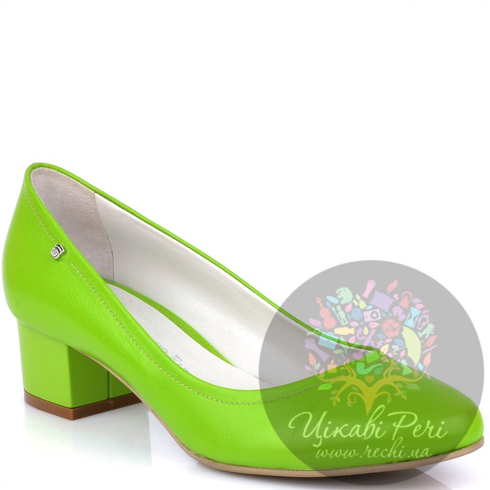 Туфли Giorgio Fabiani яркого салатового цвета