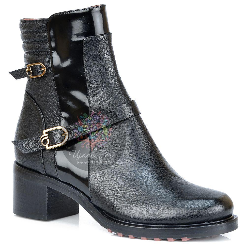 Ботинки Giorgio Fabiani кожаные с лаковыми вставками и ремешками
