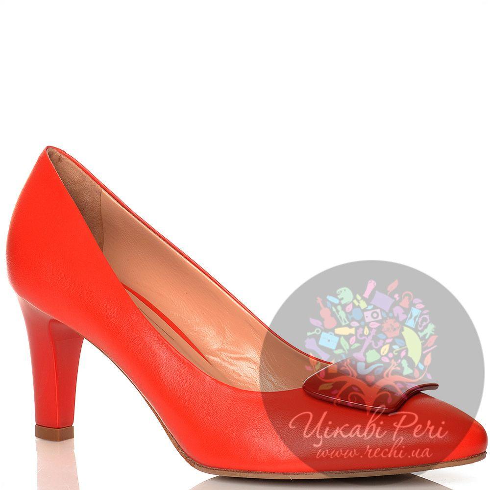 Туфли Giorgio Fabiani кожаные красные на среднем каблуке