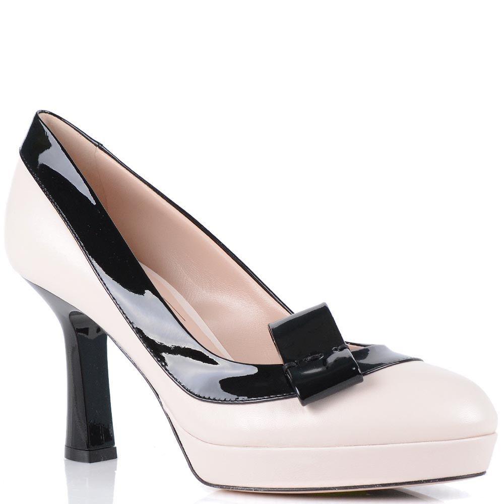 Туфли Giorgio Fabiani бледно-розового цвета на скрытой платформе
