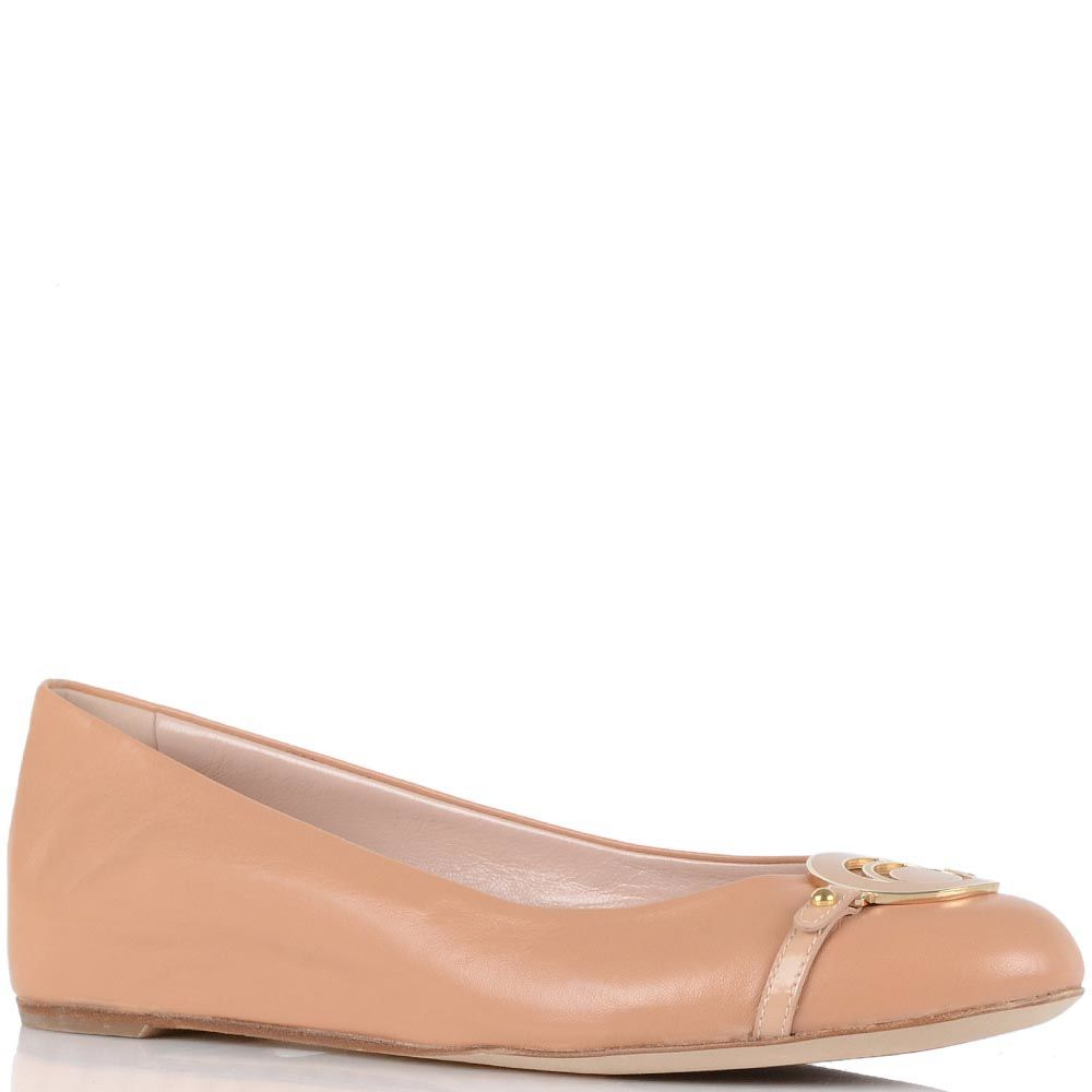 Бежевые туфли Giorgio Fabiani с брендированной пряжкой
