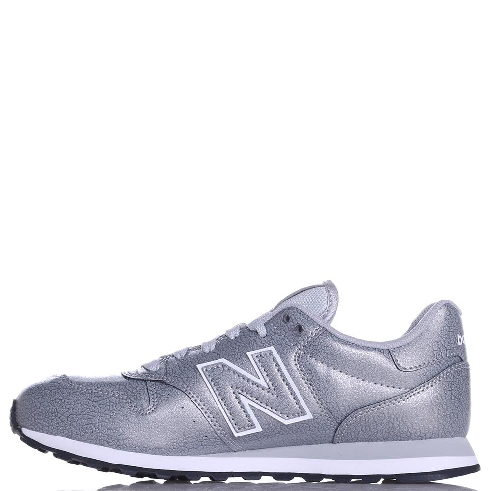 Кроссовки New Balance 500 серебристого цвета