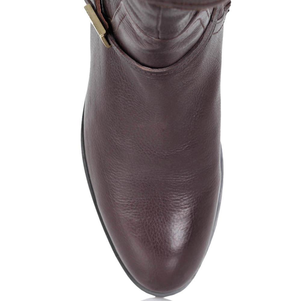 Высокие сапоги Massimo Santini из натуральной кожи коричневого цвета