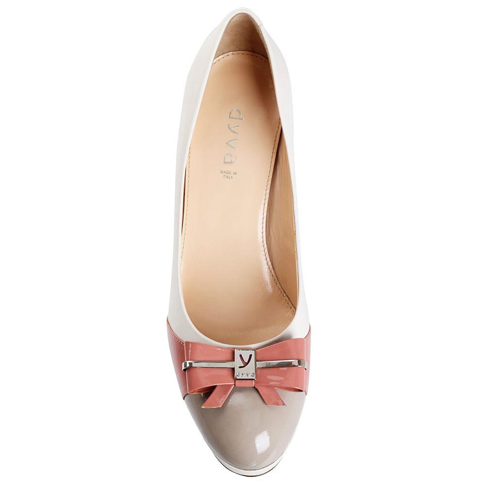 Женственные туфли Dyva на среднем каблуке с розовым бантом