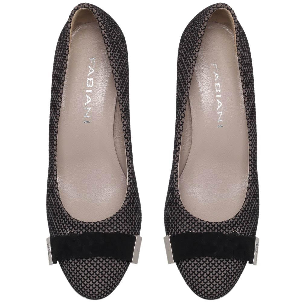 Туфли из замши коричневого цвета Giovani Fabiani на устойчивом каблуке