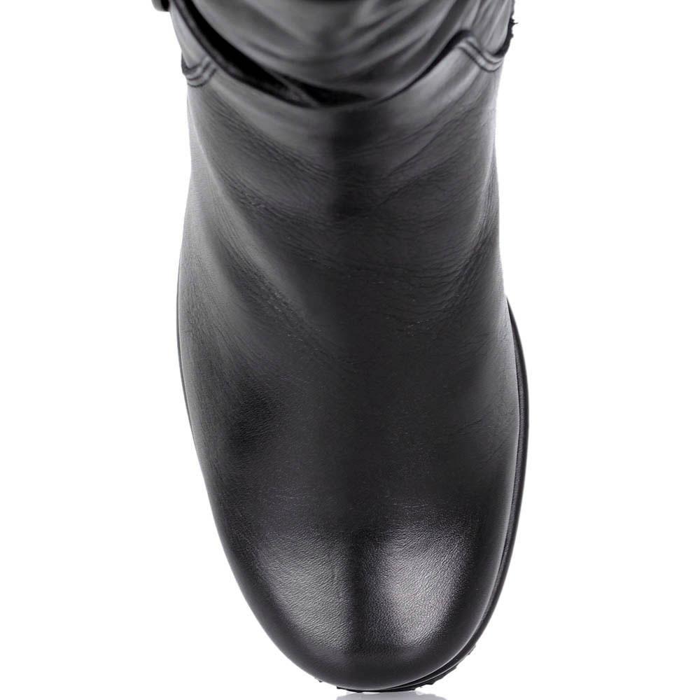 Кожаные сапоги Kelton со складками на голенище