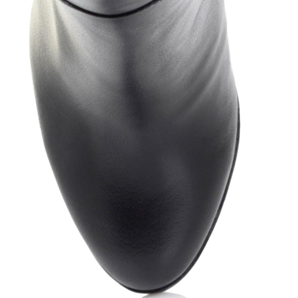 Сапоги-ботфорты Ginni из кожи черного цвета