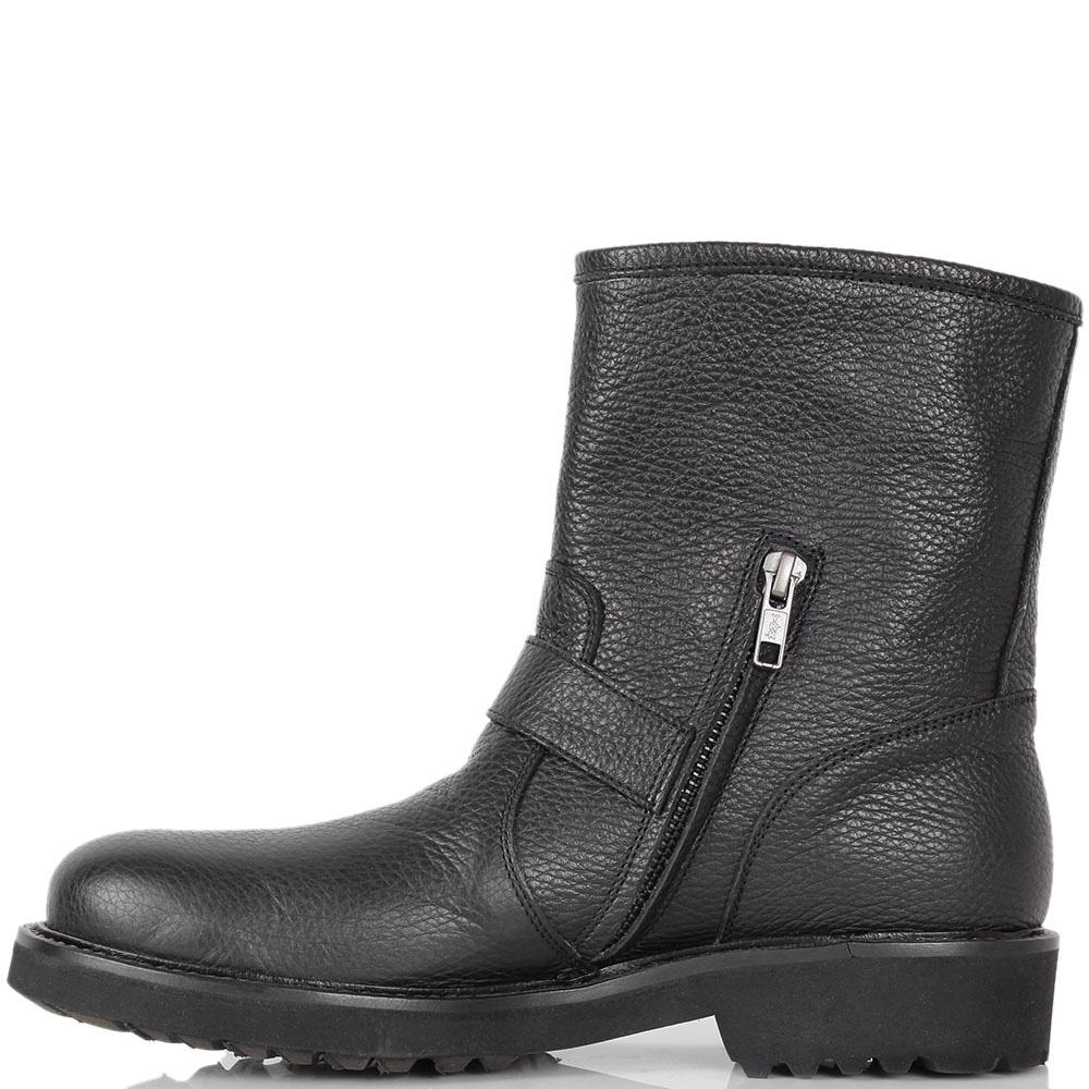 Кожаные ботинки Richmond на толстой подошве с декором-стразами