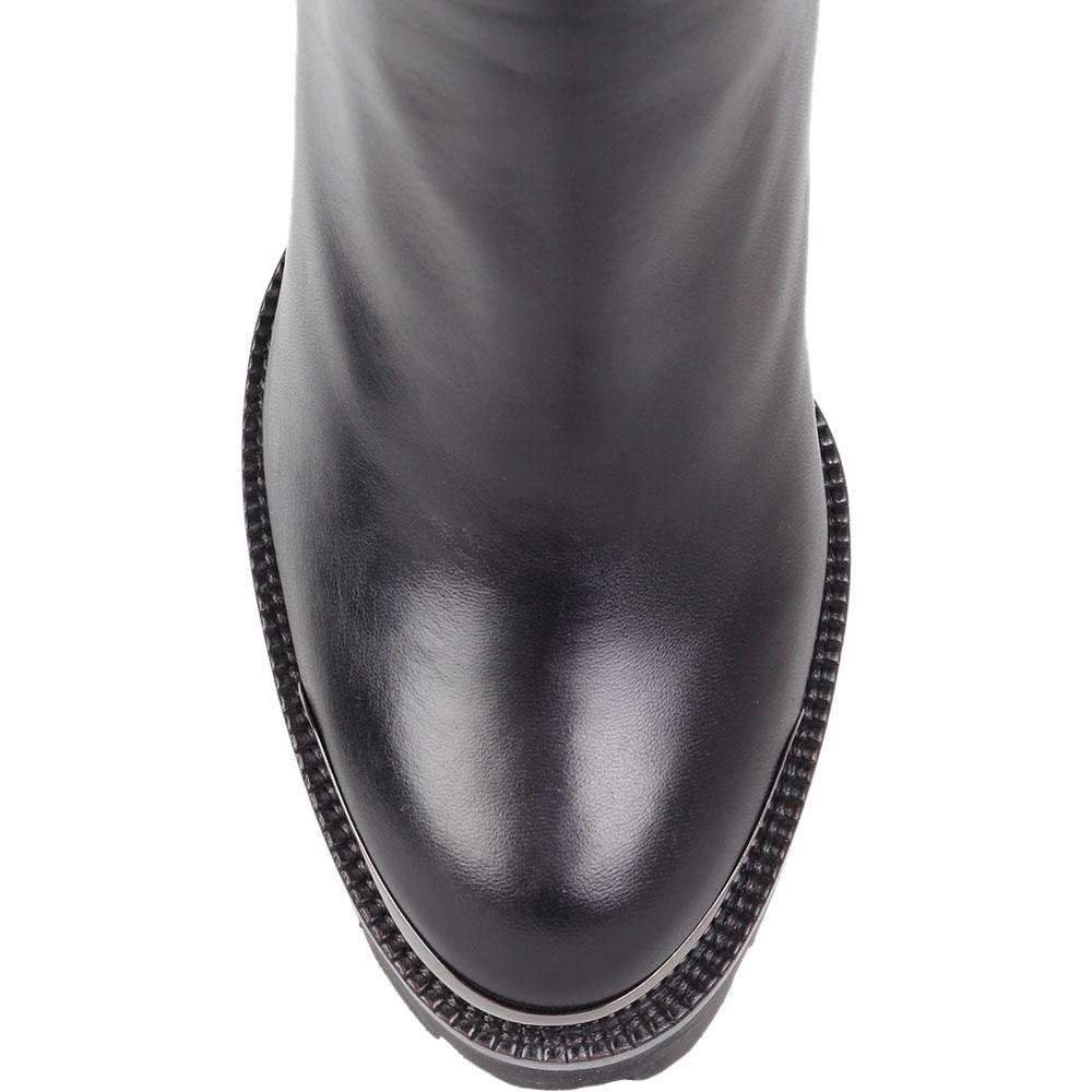 Демисезонные сапоги-ботфорты Nando Muzi из кожи на высоком каблуке