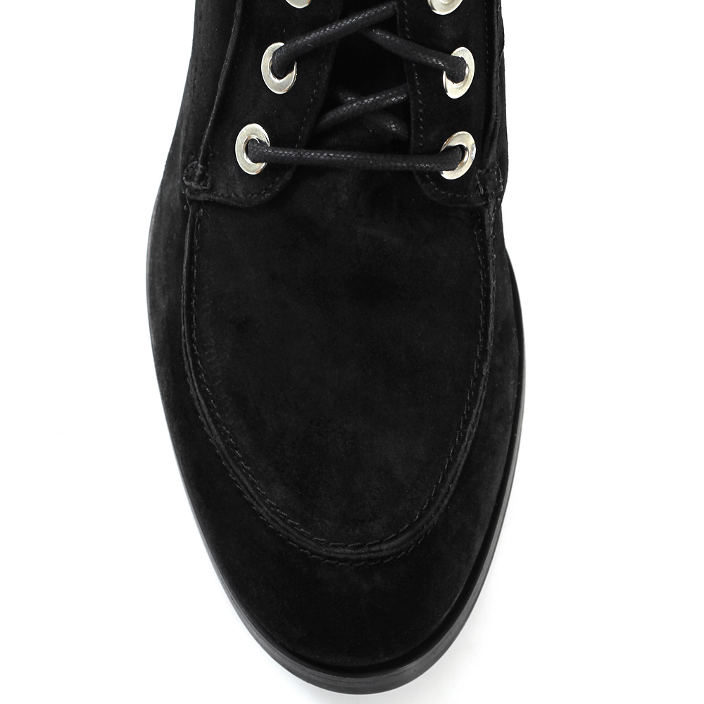 Замшевые ботинки Bervicato со шнуровкой на толстом каблуке
