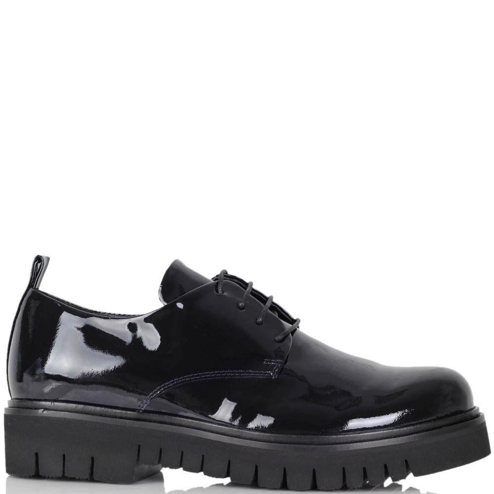 Туфли-слипоны Fru.It из натуральной лаковой кожи
