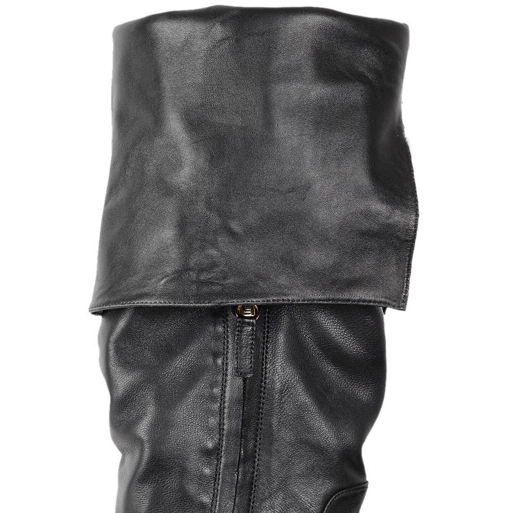 Сапоги-ботфорты Patrizia Pepe из натуральной мягкой кожи черного цвета
