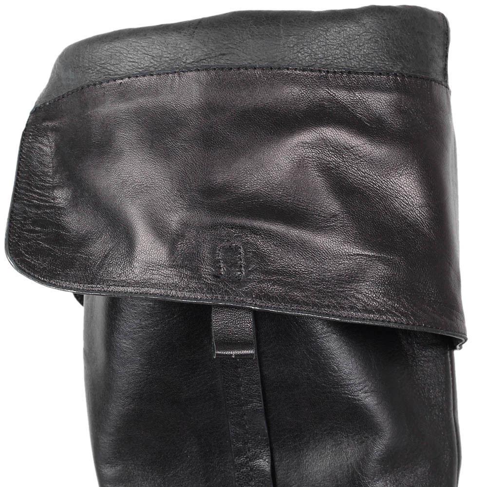 Сапоги-ботфорты Massimo Santini из мягкой кожи черного цвета