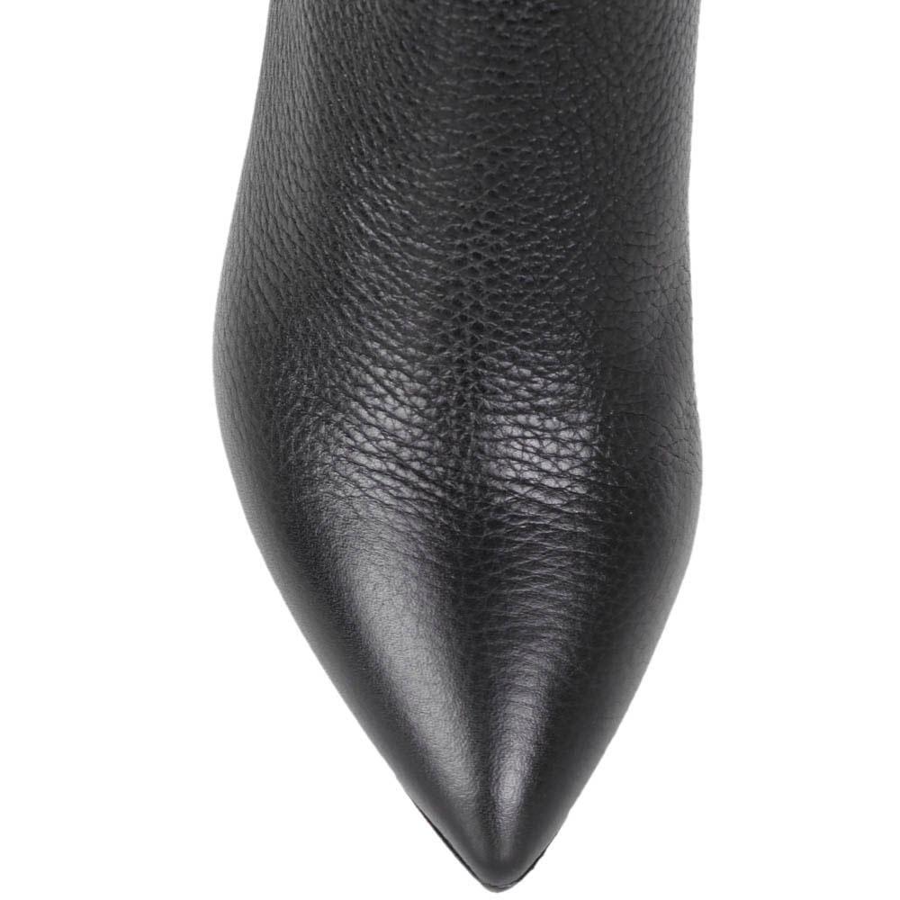 Высокие кожаные сапоги The Seller с острым носочком