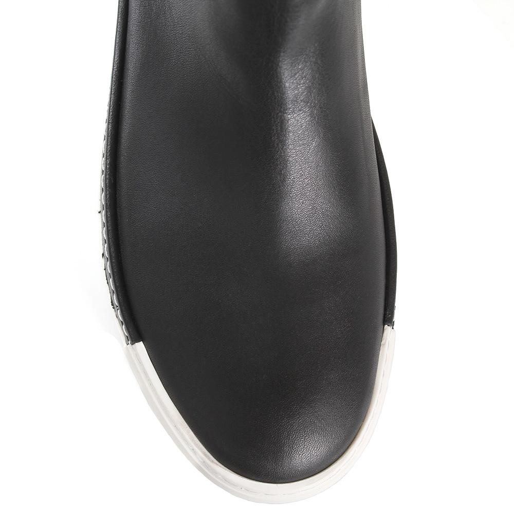 Утепленные ботфорты-чулки Vic Matie черного цвета