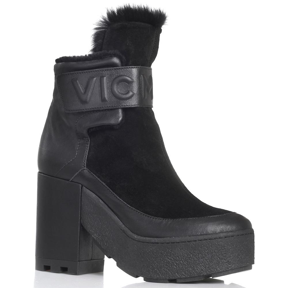 Высокие зимние ботинки Vic Matie черного цвета