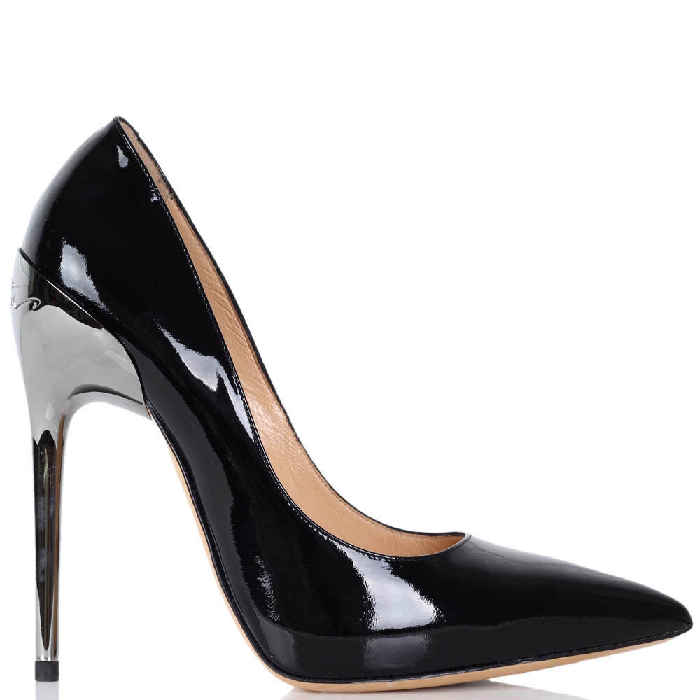 Туфли-лодочки Luciano Padovan из натуральной лаковой кожи на высокой шпильке