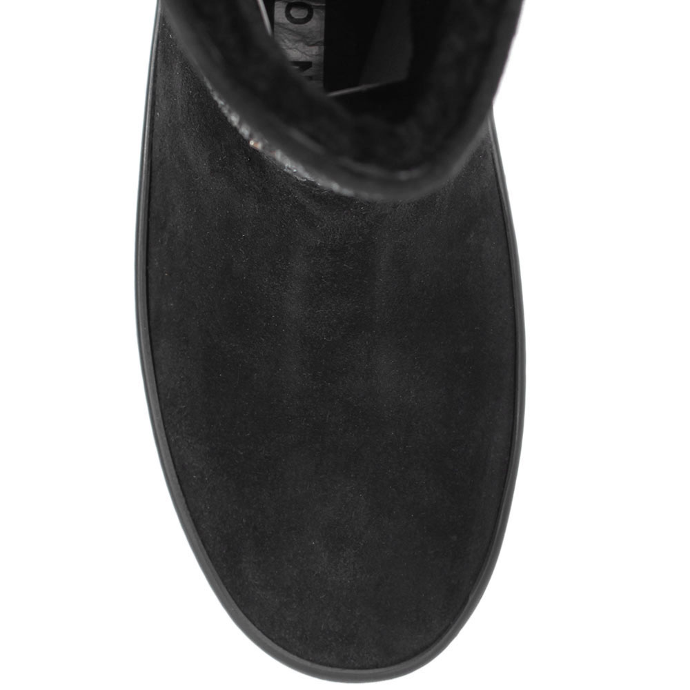 Замшевые сапоги Richmond на платформе с брендовым декором