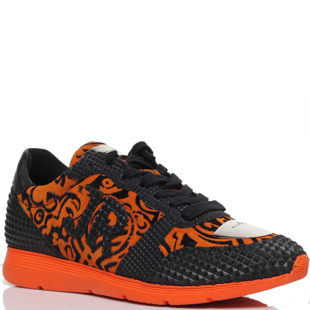 Замшевые кроссовки оранжевого цвета с резиновыми деталями Richmond