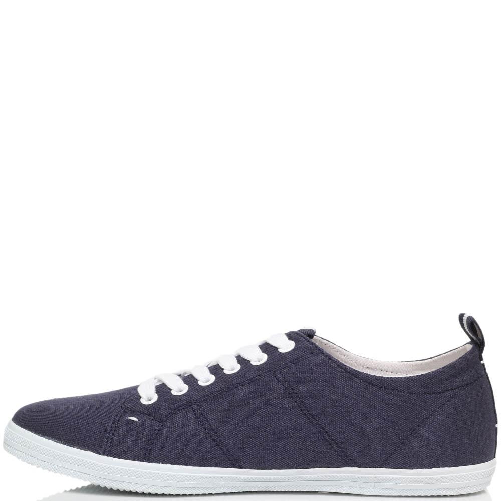 Кеды из текстиля синего цвета Trussardi Jeans