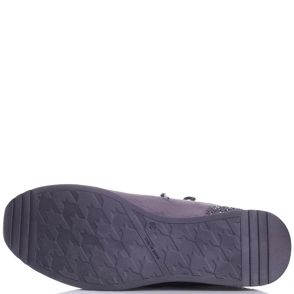 Серые кроссовки Trussardi Jeans со стразами на подошве