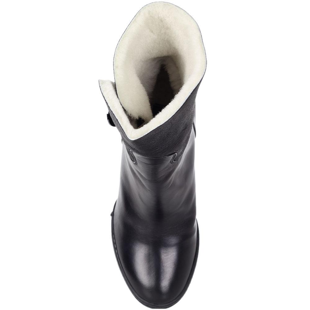 Кожаные ботинки Nando Muzi черного цвета на меху