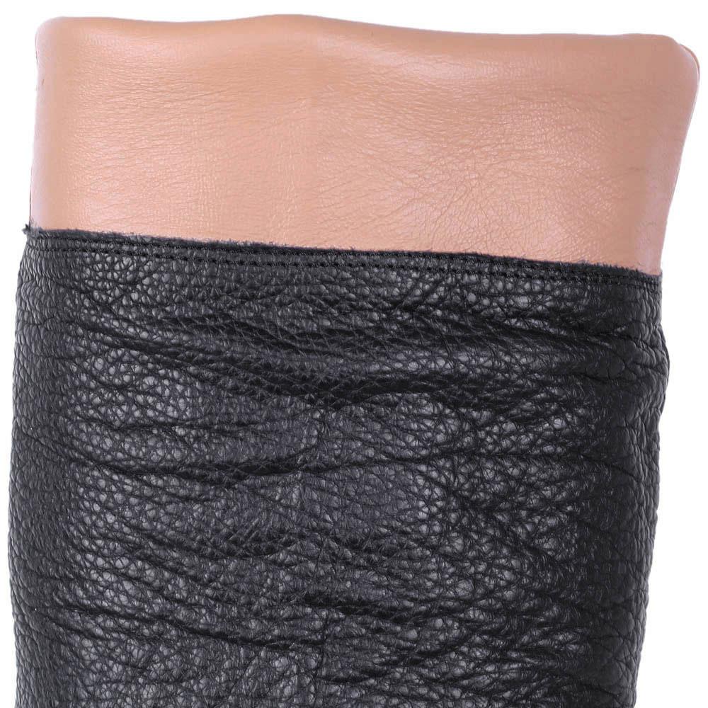 Осенние сапоги The Seller из натуральной кожи черного цвета
