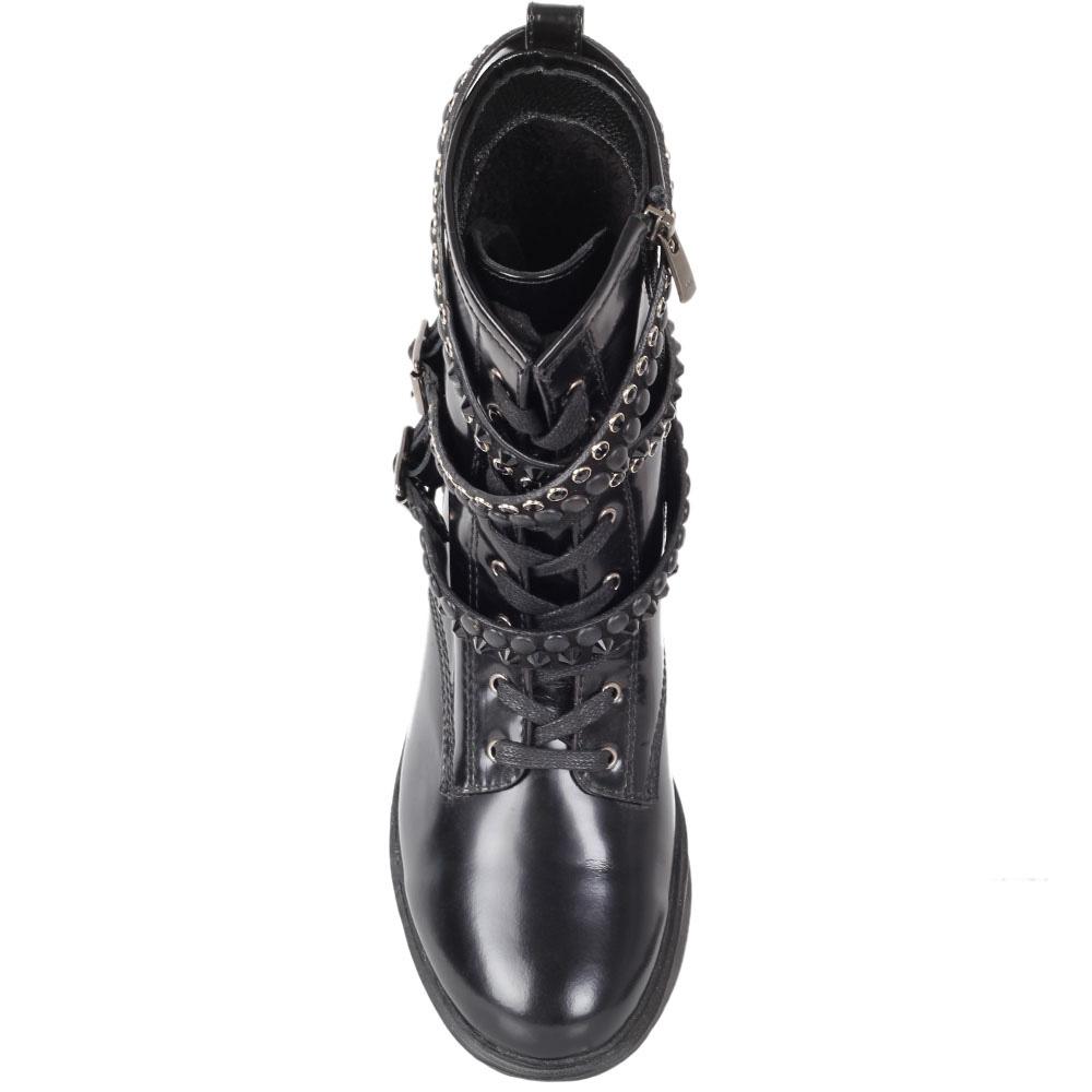 Ботинки Trend BB из натуральной полированной кожи с ремешками