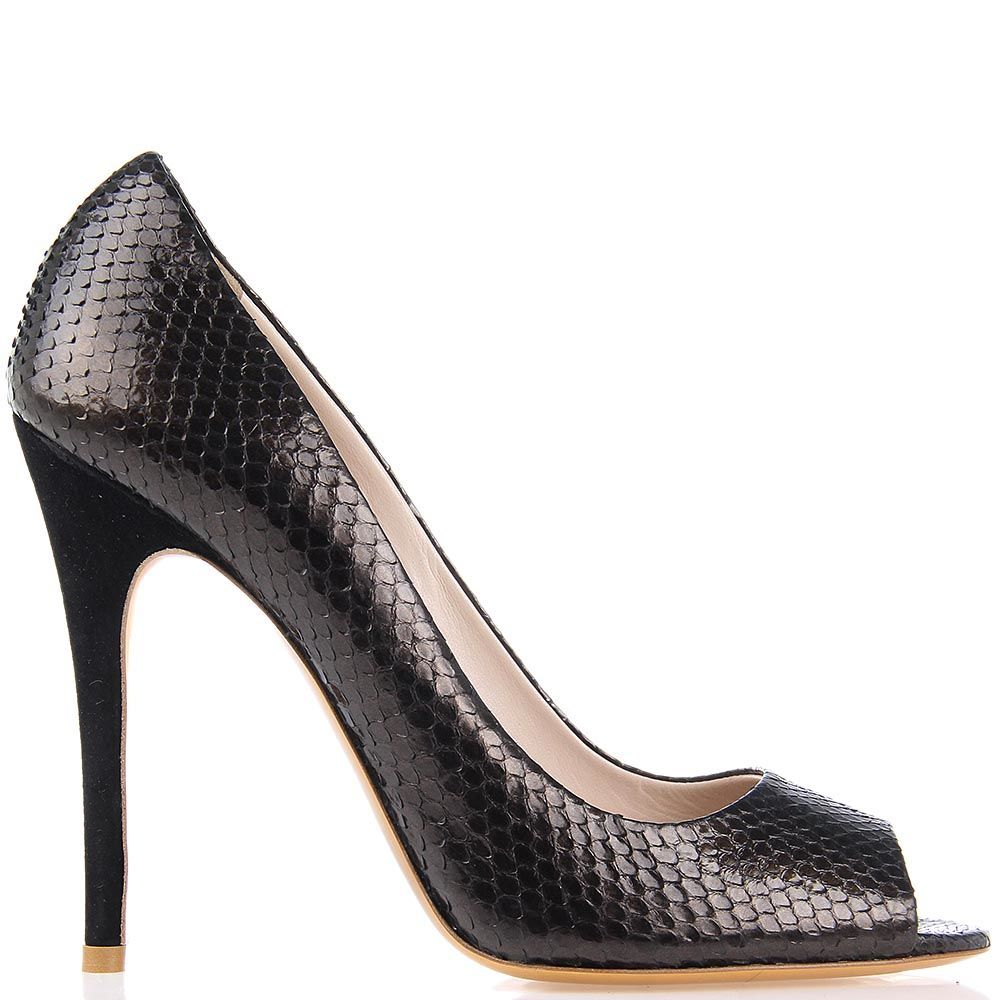 Туфли Giordano Torresi Ingrid Snake темно-коричневого цвета
