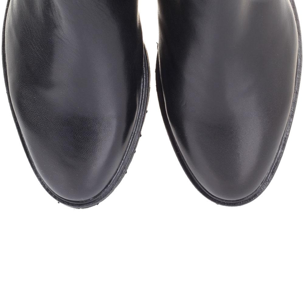 Кожаные зимние сапоги The Seller Jullie Dee черного цвета на толстой подошве