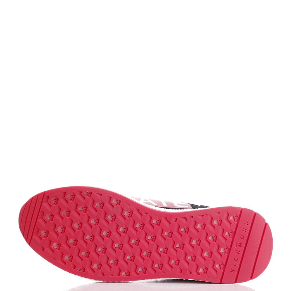 Черные кроссовки John Richmond с красными вставками