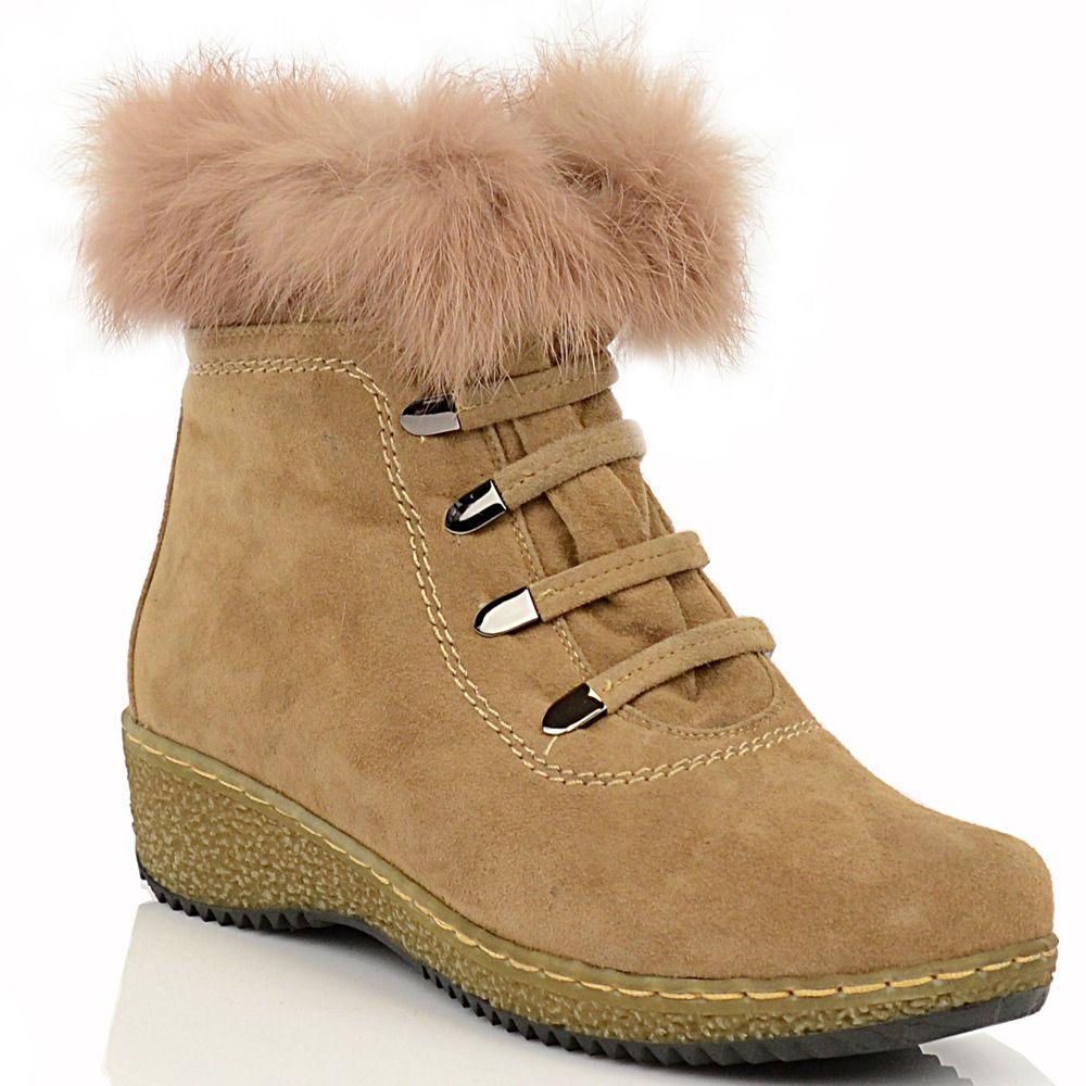 Бежевые замшевые ботинки Meanbalan