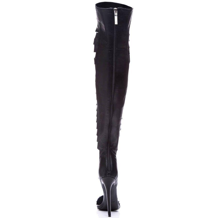Ботфорты Kandee черного цвета с прорезями и острым носочком