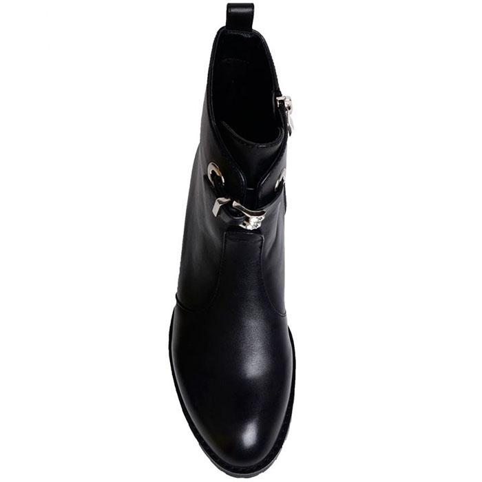 Кожаные ботинки Prego черного цвета