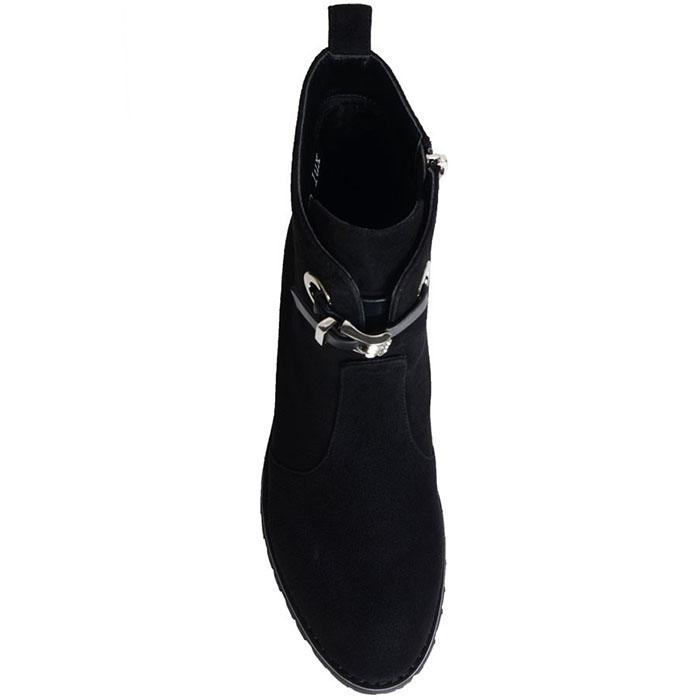 Замшевые ботинки Prego черного цвета