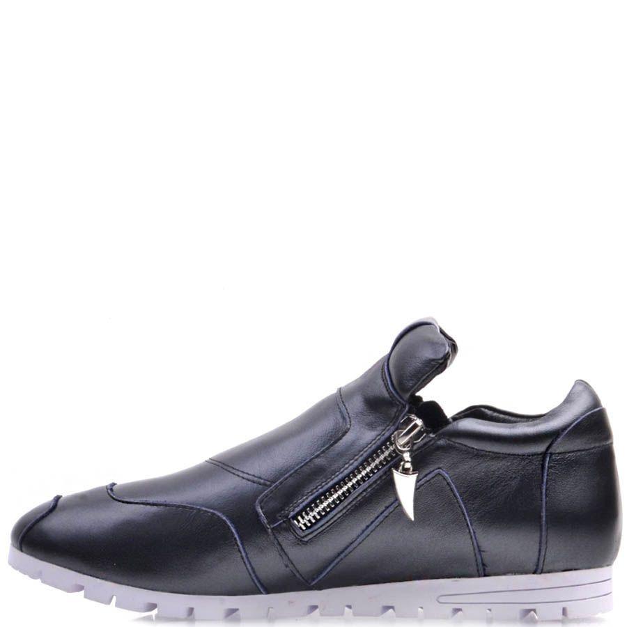 Ботинки Prego спортивные серого цвета из мягкой кожи с молниями