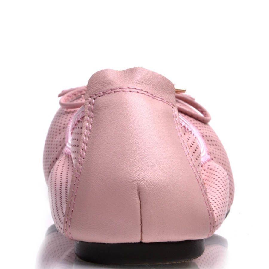 Балетки Prego розового цвета на резинке
